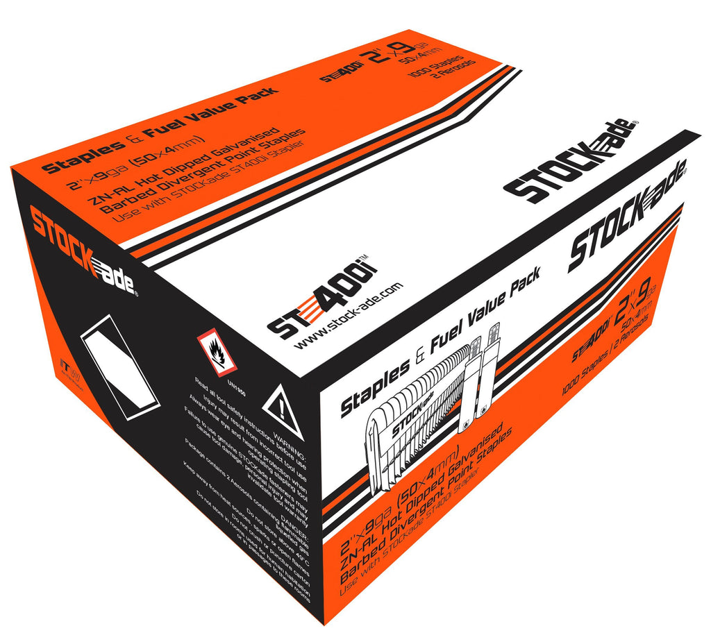 STOCKade ST400i Cordless 4mm (9 gauge) Barbed Fence Staples with fuel