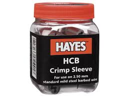 Hayes HCB Barbed Wire Crimp Sleeves