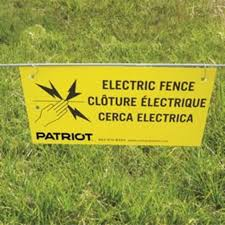 Electric Fence Warning Signs 10 pkg