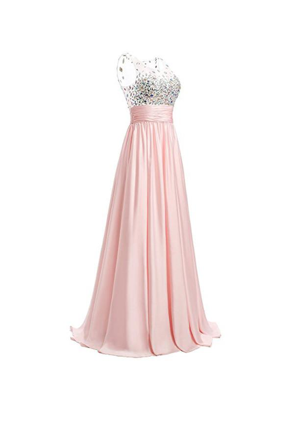 A-line Prom Dresses Floor Length Chiffon Evening Gowns PG255 - Pgmdress