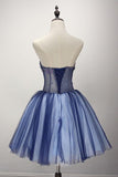 Ball Gown Strapless Short Tulle Homecoming Dress With Beading  PG139 - Pgmdress