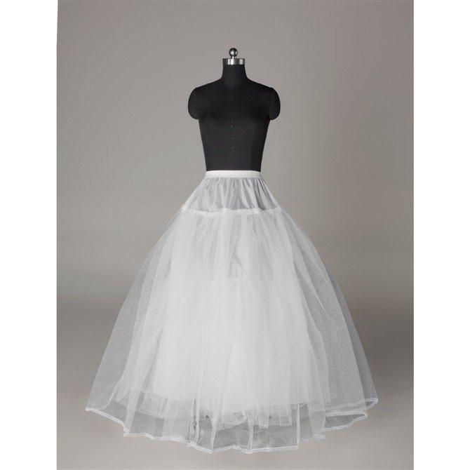 Fashion Wedding Petticoat Accessories White Floor Length LP010 - Pgmdress