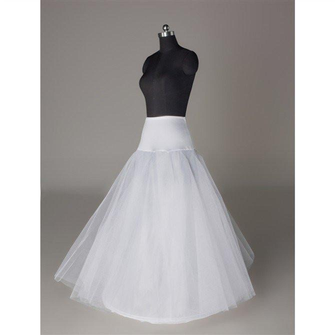 Fashion Wedding Petticoat Accessories White Floor Length LP011 - Pgmdress