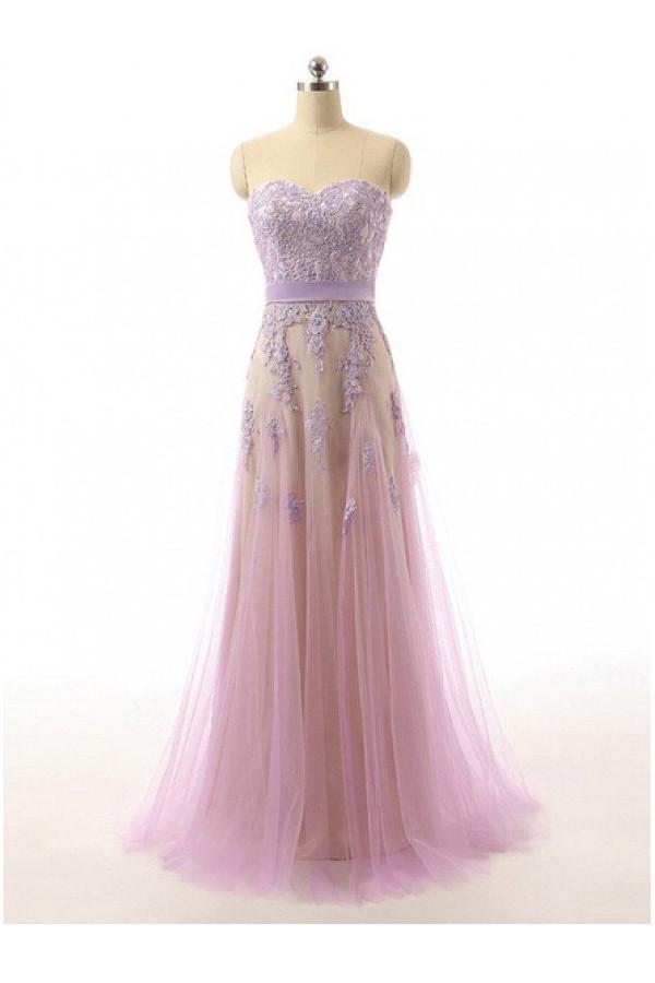 Lace Sweetheart Tulle Prom Dresses Evening Dresses PG 226 - Pgmdress