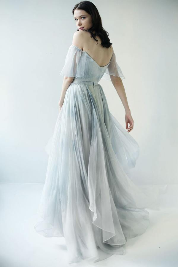 Off Shoulder Unique Design Most Popular Long Prom Dresses Bridal Gowns-Pgmdress