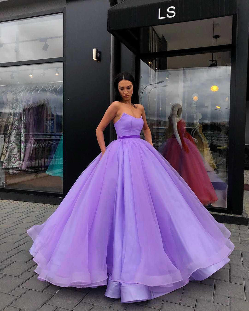 Organza Ball Gowns Prom Dresses Sweetheart Evening Dresses PG709 - Pgmdress