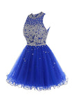 Short Tulle Beading Homecoming Dress Prom Gown  PG037