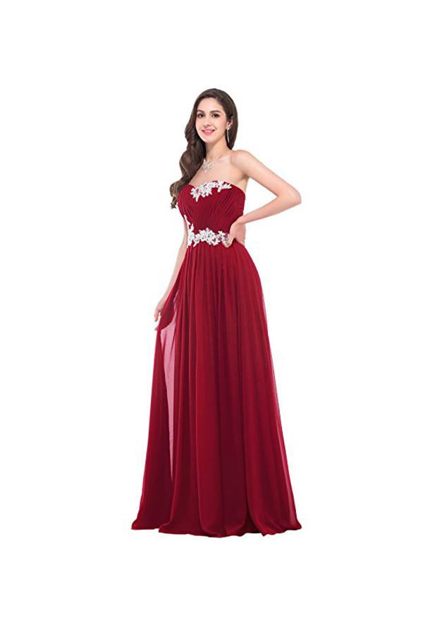 Strapless Long Evening Dress with Appliques Prom Dresses PG276 - Pgmdress