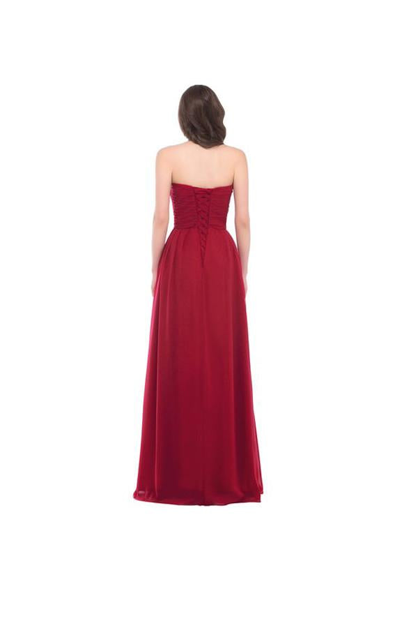 Strapless Long Evening Dress with Appliques Prom Dresses PG276