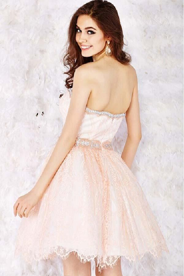 Sweetheart Ball Gowns Strapless Beading Homecoming Dresses-Pgmdress