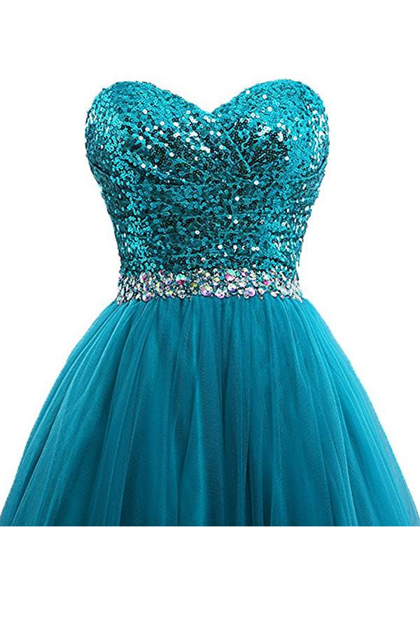 Tulle Sequin Ball Gown Prom Dresses Evening Gown PG254
