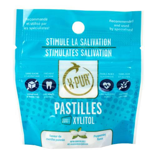 X-PUR Pastilles 100% Xylitol - Display & Pouches