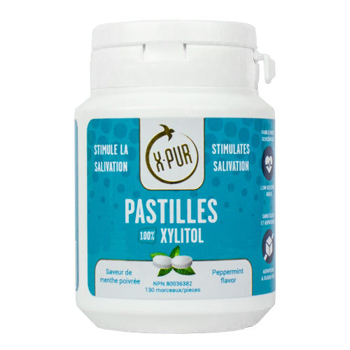 X-PUR Pastilles 100% Xylitol - Small bottles - Oral Science