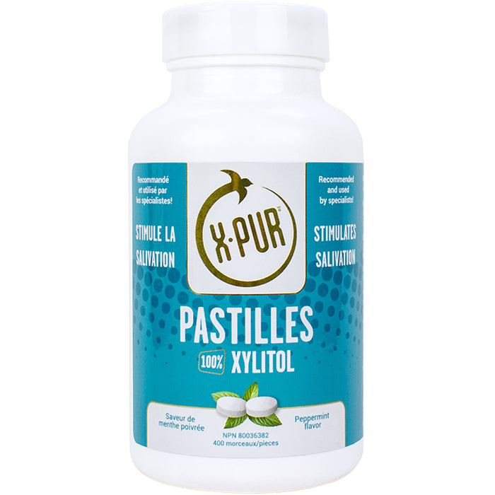 X-PUR Pastilles 100% Xylitol - Big Bottles - Oral Science
