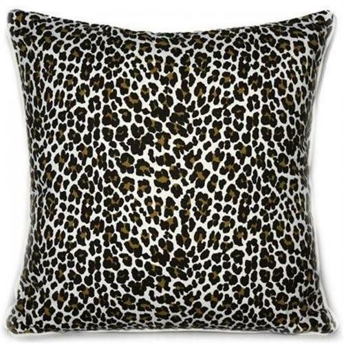 Cushion Cover Leopard Print Cotton Scatter Throw Pillow Case Animal Skin Design
