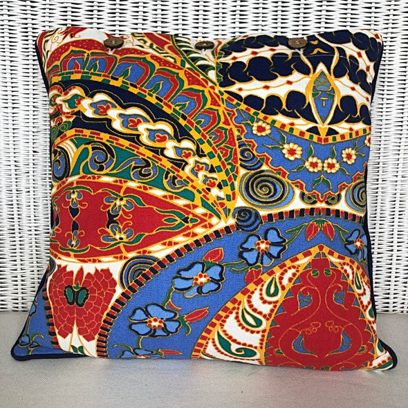 Multi Colour Abstract Floral Tropical Cushion Cover Ankara