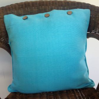 Pale Blue Aqua Solid Colour Cotton Linen Cushion Cover