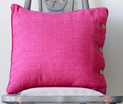 Bright Pink Solid Colour Cushion Cover - Fuchsia