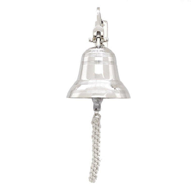 Hamptons Coastal Silver Wall Bell - Large
