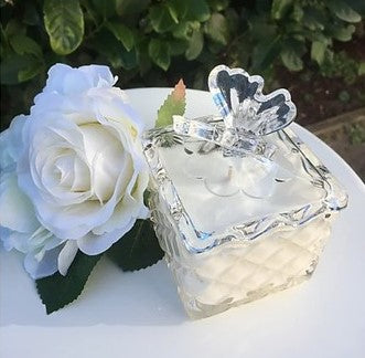 Luxury Soy Candle - Citrus and Sage - Butterfly Trinket Box