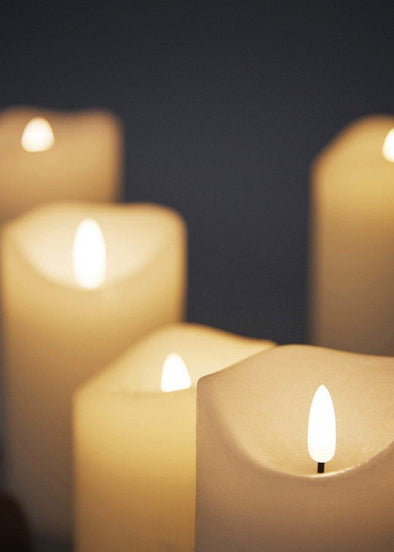 Set of 3 LED Pillar Candles