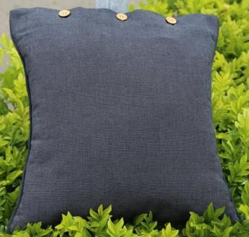 Charcoal Grey Solid Colour Cotton Linen Cushion Cover