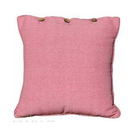 Dusty Rose Pink Cushion Cover Cotton Linen Coconut Buttons