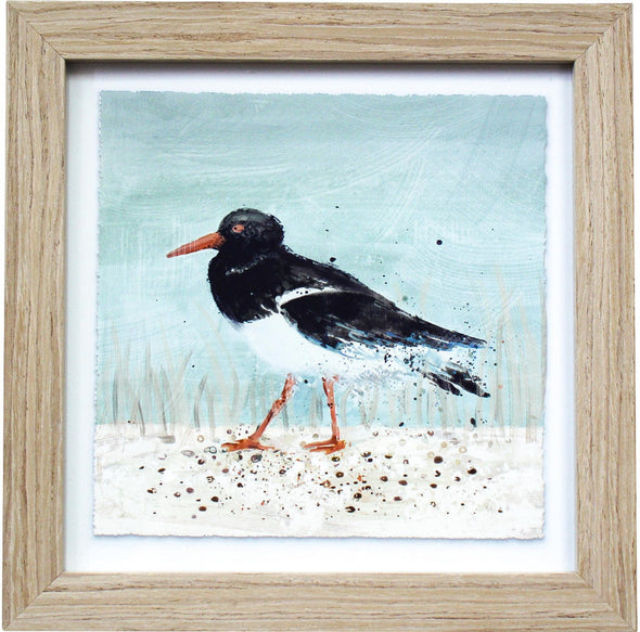 White Wash Timber Framed Sea Bird Wall Art