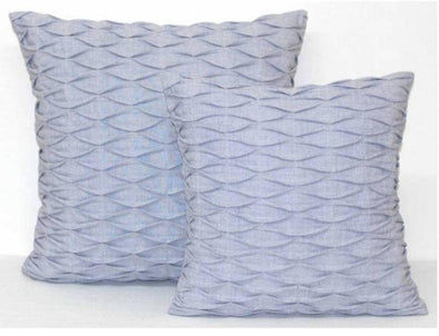 Pale Blue Grey Textured Cushion Cover - Gracie