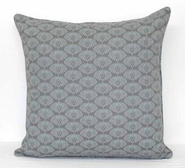Grey and White Pattern Cushion Cover - Dew Drops Ash Grey