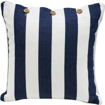 Navy and White Stripe Cushion Cover - Mode - 2 Sizes