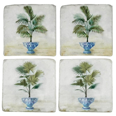 Set of 4 Hamptons Style Coasters