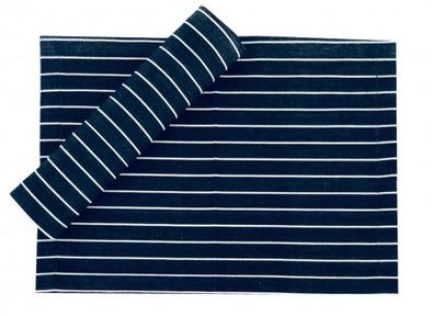Navy and White Pin Stripe Stripe Table Runner- 180 cm