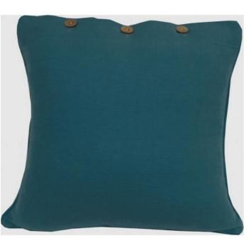 Teal Green Blue Solid Colour Cushion Cover - Teal