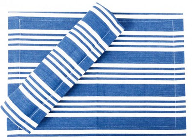 Blue and White Stripe Stripe Table Runner- 180 cm