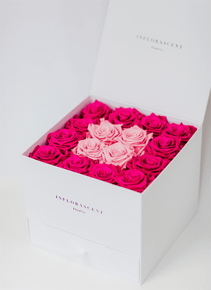 "Customize Your  ""SQUARE OF INFINITY"" With 2 Shade Roses"