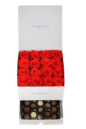 CLASSIC BESTSELLER | Square of Infinity Red Roses