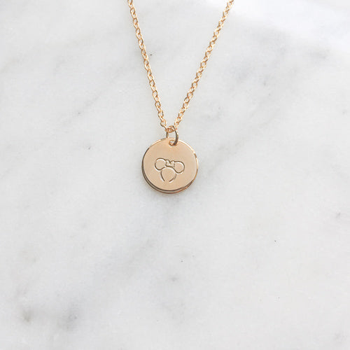 Minnie Ears Necklace - Wishes & Co.