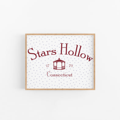 Stars Hollow Print - Wishes & Co.
