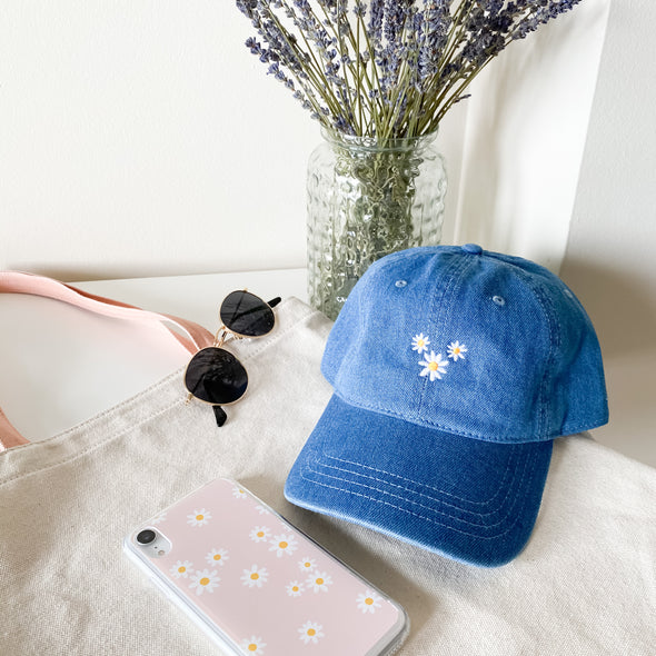 Flower Denim Hat