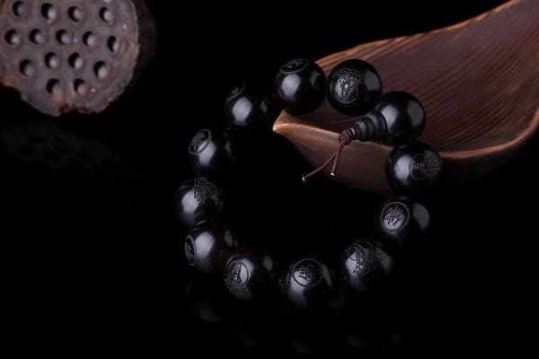 Natural Ebony Wood Feng Shui Unisex Bracelet