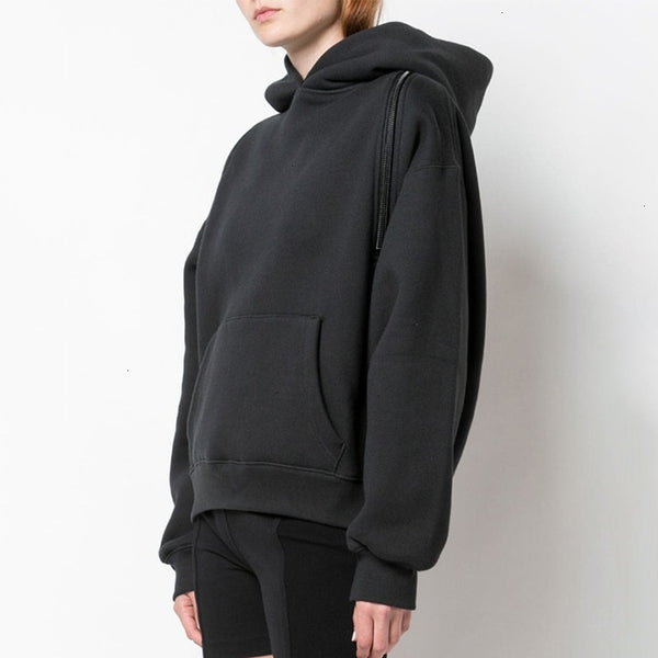 Off/On Shoulder Zip Sweatshirt
