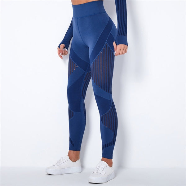 Seamless High Waist Mesh Leggings
