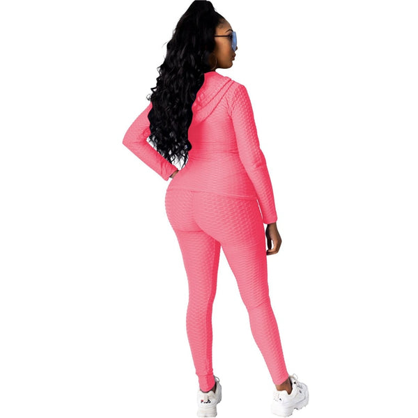Ruched Textured Tracksuit
