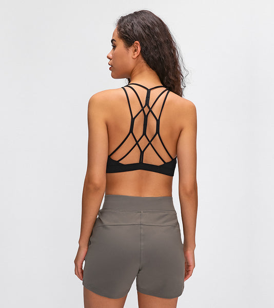 2D Strappy Back Sports Bra