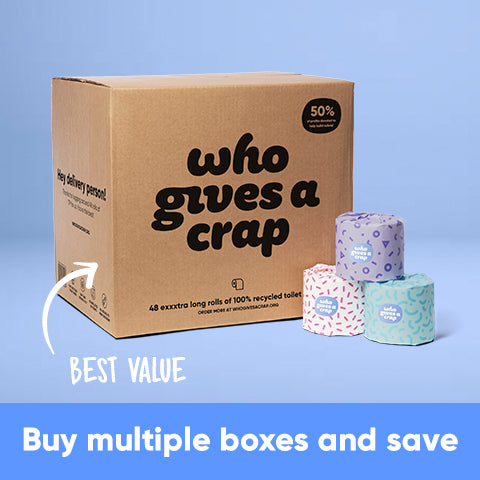 Buy Multiple Boxes and Save - 100% Recycled Toilet Paper - 3-ply - Double Length Rolls