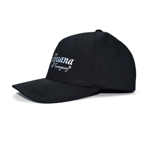 The Marijuana Company® Reflective Script Logo Cap (Black)