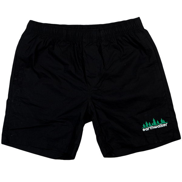 Embroidered Beach shorts (Ebony)