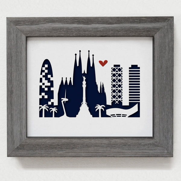 "Barcelona - 8x10"" cut-out"