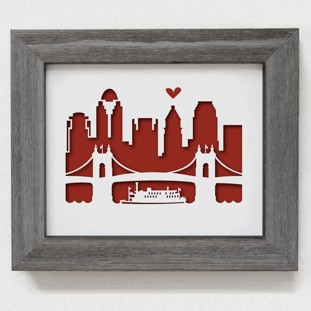 "Cincinnati - 8x10"" cut-out"